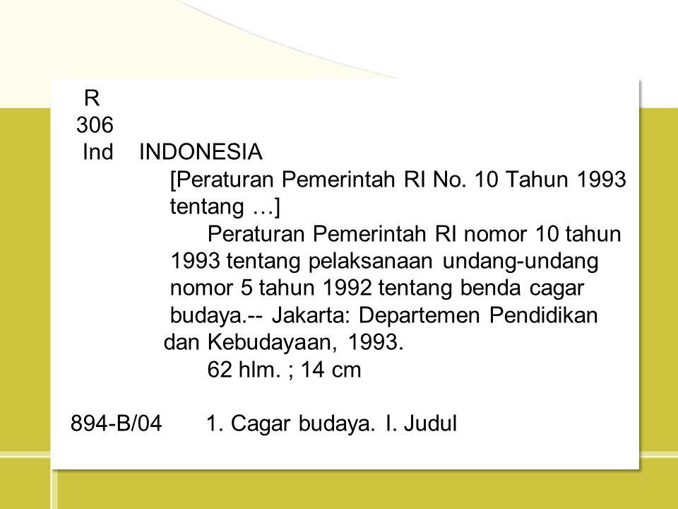[Peraturan Pemerintah RI No. 10 Tahun 1993 tentang …]